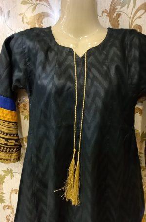 Black Linen Kurti For Girls