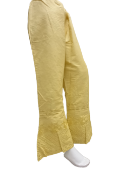 Embroidered Basic Trouser - Yellow