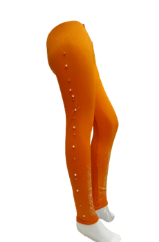 Embroidered Tights - Orange - Latest Design Of Tights/Leggings