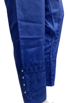 Embroidered Trouser - Blue