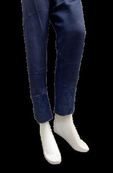 Embroidered Trouser - Dark Blue