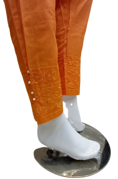 Embroidered Trouser - Orange