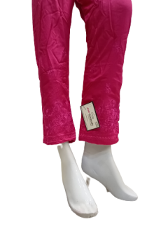 Embroidered Trouser - Pink