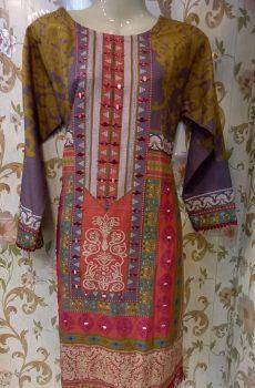 Khadar Shirt for winter with Beautiful handmade work