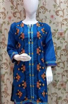 Khaddar Shirt with Embroidery for Winters