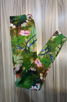 Multi Color Green Floral Tights for Female