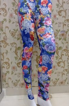 Multi Color blue Floral Tights for Female