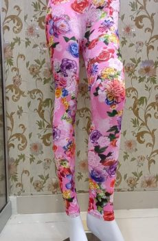 Dark Pink - Floral Tights
