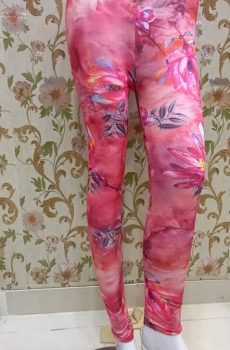 Pink Print – Floral Tights