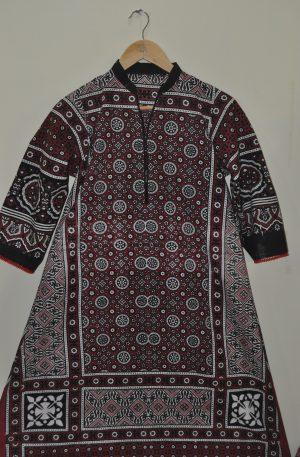 Ajrak Style Kurti For Women