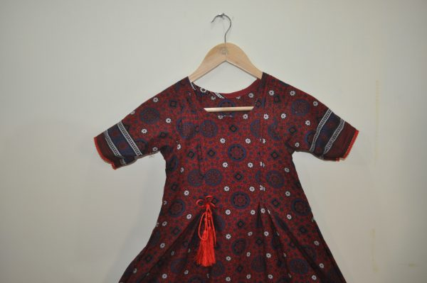 Ajrak kurti For Baby Girl